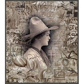 Cowgirl - Framed Float Canvas Art Prints by Shari Jenkins