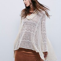 Free People Womens Rain Fall Cowl Neck Pullover