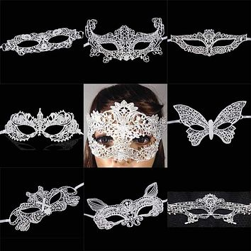 New Girls Halloween Ball Mask Women white Black Sexy Lady Lace Masks for Masquerade Party Fancy Dress Costume Macchar Cosplay Catalogue