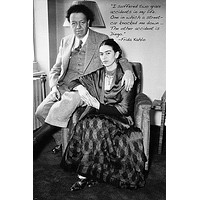 famous artist FRIDA KAHLO vintage photo quote poster DIEGO RIVERA 24X36 hot