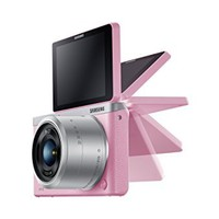 "Samsung NX Mini 20.5MP CMOS Smart WiFi & NFC Mirrorless Digital Camera with 9-27mm Lens and 3"" Flip Up LCD Touch Screen(Pink)"