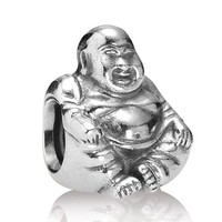 New 925 Sterling Silver Bead Charm Vintage Cute Relax Meditation Buddha Beads Fit Pandora Bracelet Bangle DIY Jewelry