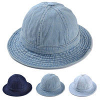 Fashion Fishing Bucket Jeans Boonie Hat for Women Causal Dome Visor Sun Cap Denim Travel Outdoor Woman's Hat Free Shipping