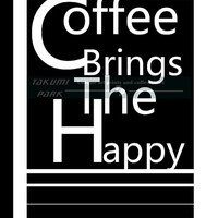 Coffee Brings The Happy, Quote Art Print, Cubicle Decor, Office Decor, Black And White Art Print, Coffee Decor, Photo Print, Workplace