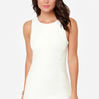 The Lace Between Backless Ivory Dress