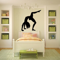 Gymnast Gymnastics Vinyl Wall Decal Sticker Graphic