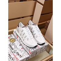 Dolce&Gabbana  Men Fashion Boots fashionable Casual leather Breathable Sneakers Running Shoes0504yph
