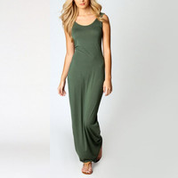 Summer long Bodycon Sleeveless Cotton Maxi Sundress vestidos