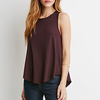 Ribbed Knit Trapeze Tank