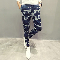 Euro Size Mens Joggers Pants Hip Hop Men Camouflage Pencil Pants of Skinny Trouser Sweatpants