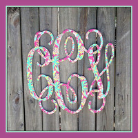 Extra Large 24x24 Triple Initial Monogram | College | Dorm Room Door | Nursery Decor | Wedding Gift | Shower Gift | Bridal Shower | Wedding