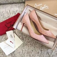 Christian Louboutin   Fashion Women Men Trending Leather Women High Heels Shoes Women   Sandals Heel