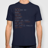 Piper's Nicknames (Orange is the New Black) T-shirt by Zharaoh