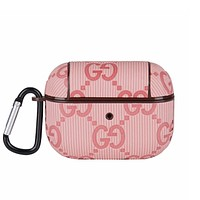 GG Fashion Letter Monogram Print For Apple AirPods 1 2 Pro  Protective Case Headphone Case Shell No Headset
