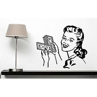 Wall Vinyl Sticker Hair Salon and Spa Styling Beauty Haircut Makeover Unique Gift (n249)