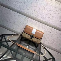 LV Louis Vuitton CANVAS AND LEATHER CHAIN SHOULDER BAG