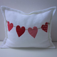 Decorative Pillows, Children pillow, Embroidered pillow, Baby room decor, Pillow Heart, Pillow covers, personalized pillows, valentines day