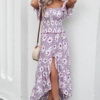 Miles Away Lilac Smocked Maxi Dress