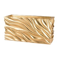 Swirl Table Planter - Gold Leaf Gold Leaf