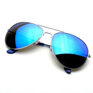 Emblem Eyewear - Reflective Classic Premium Flash Full Mirrored Aviator Sunglasses