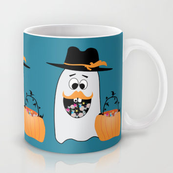 Silly Halloween Ghost Wants Your Candy Mug by PLdesign | Society6