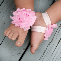 READY TO SHIP ... Baby Barefoot Sandals ... Pink Sandals .. Toddler Sandals .. Newborn Sandals..Boy Barefoot Sandals