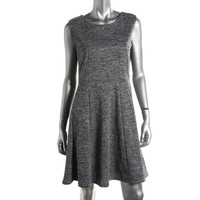 NY Collection Womens Petites Marled Embellished Wear to Work Dress