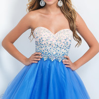 Strapless Fit and Flare Intrigue by Blush Homecoming Dress