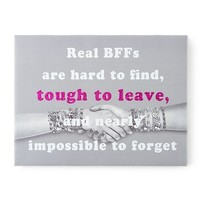 Real BFFs Wall Canvas | Claire's