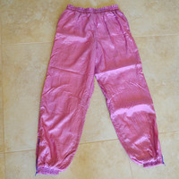 Pink & Purple Vintage 90s Track Bottoms Sweatpants Large