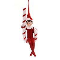 Holiday Ornaments ELF ON SHELF CANDY CANE SWING Polyresin Department 56 4056873