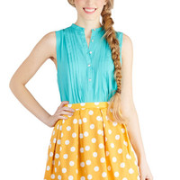 See You Round Skirt in Yellow