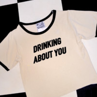 SWEET LORD O'MIGHTY! DRINKIN ABOUT YOU RINGER TEE
