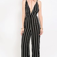 Seriously Striped Strappy Jumpsuit