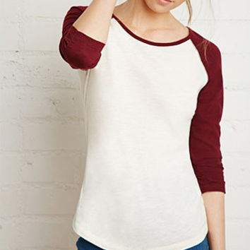 Heathered Baseball Tee