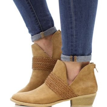 The Elise Bootie - Camel