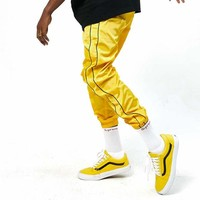 Pin Stripe Nylon Track Pants