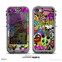 The Vibrant Colored Vector Graffiti Skin for the iPhone 5c nüüd LifeProof Case