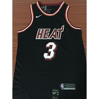 Miami Heat #3 Dwyane Wade Retro Black Basketball Jersey