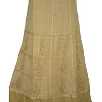 Womens Maxi Skirt- Hippie Boho Rayon Stonewashed Gypsy Peasant Indian Long Skirt: Amazon.ca: Clothing & Accessories