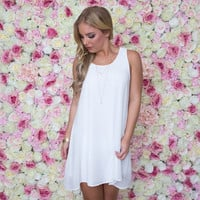 On Cloud Nine Shift Dress In White