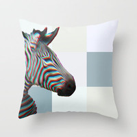 ZEBRA Throw Pillow by M✿nika  Strigel	 | Society6