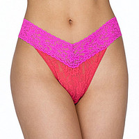 Hanky Panky Colorplay Original Rise Thong - Passionfruit
