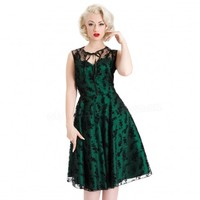Voodoo Vixen Penny Lace Swing Dress | Pin Up Retro Style