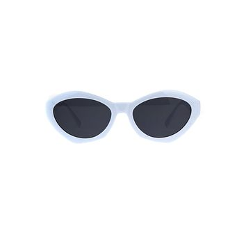 Solid Oval Sherbet Sunglasses