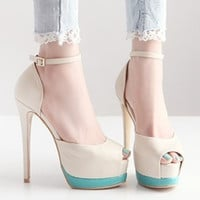 Stylish Summer Korean High Heel Peep Toe Sandals = 4805005316