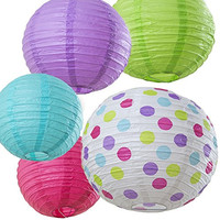 Paper Lanterns for Party Supplies, Decorations, Room Decor 5-pack