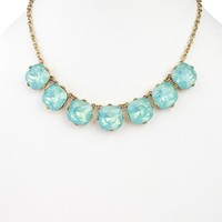 Mint Green Circle Jeweled Strand Necklace