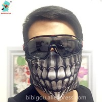 BIBIGOU Outdoor Mask Emirates Skeleton Skull Windproof Masks 4PCS Outdoor Sports Warm Balaclavas Halloween Mask