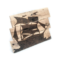 Pirate Ship Wall art Wooden beach signs Child room decor Pirate theme Pallet art Beach art  Nautical Decor Kids Pirate Party Pirate Decor